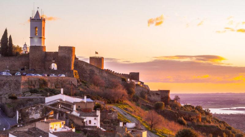 Top-Tour-Aerial-View-Of-Reguengos-de-Monsaraz-Portugal